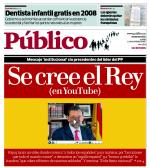 Portada del diario Público sobre el vídeo de Rajoy